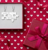 Engraved jewellery Silver interlocking pendant 'Heart'