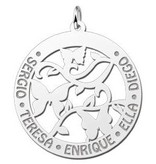 Engraved jewellery Silver Butterfly Necklace with Engravement