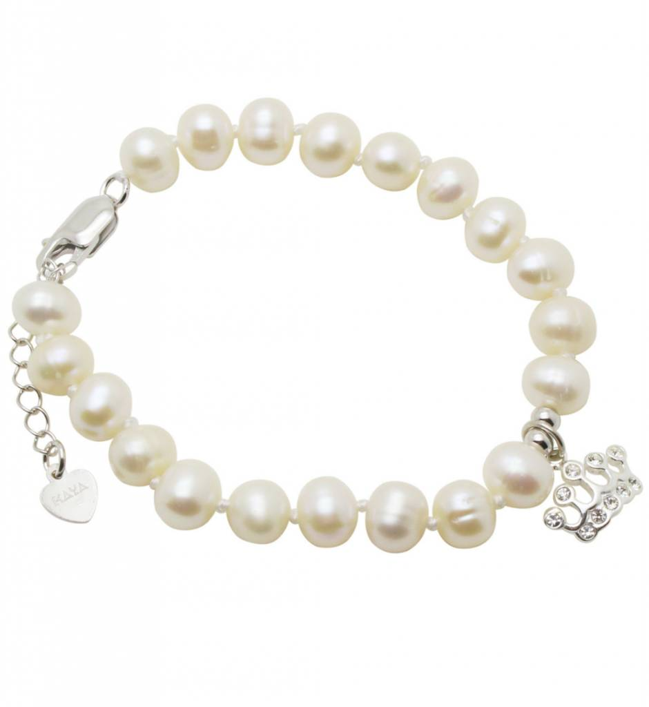 KAYA jewellery Silver Princess Bracelet 'Pure' Crown