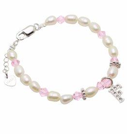 KAYA jewellery Silver Girls Bracelet 'Little Diva' Initial Charm