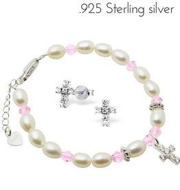 KAYA jewellery Silver Communion Bracelet & Earings 'Diva'