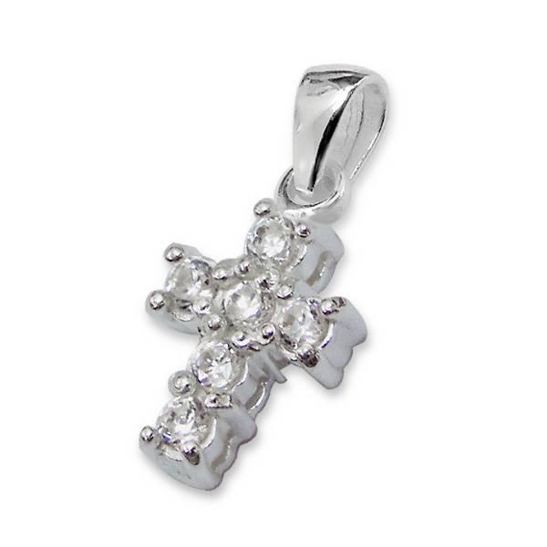 Midnight star (silver) Silver Girls Bracelet 'Midnight Star' Crystal Cross