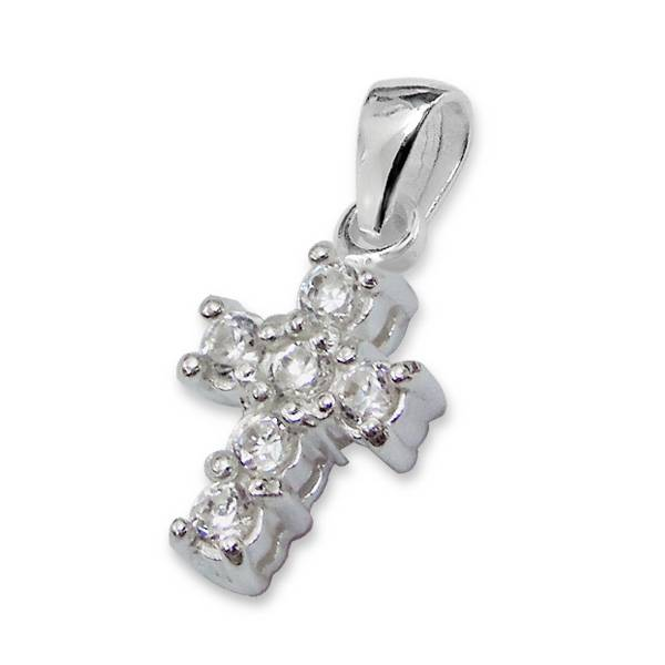 Pure (silver) Silver Girls Bracelet 'Pure' Crystal Cross