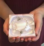 KAYA jewellery Silver Mum & Me Bracelets 'Bubbles' Crystal Cross