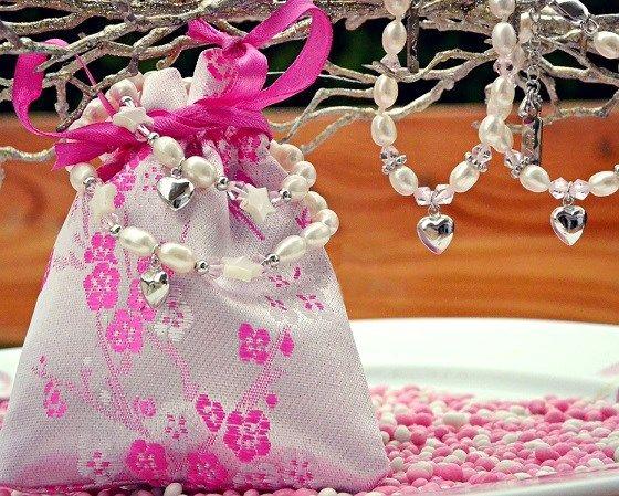 silver jewellery Freshwater Pearls & Pink crystal Silver Earings