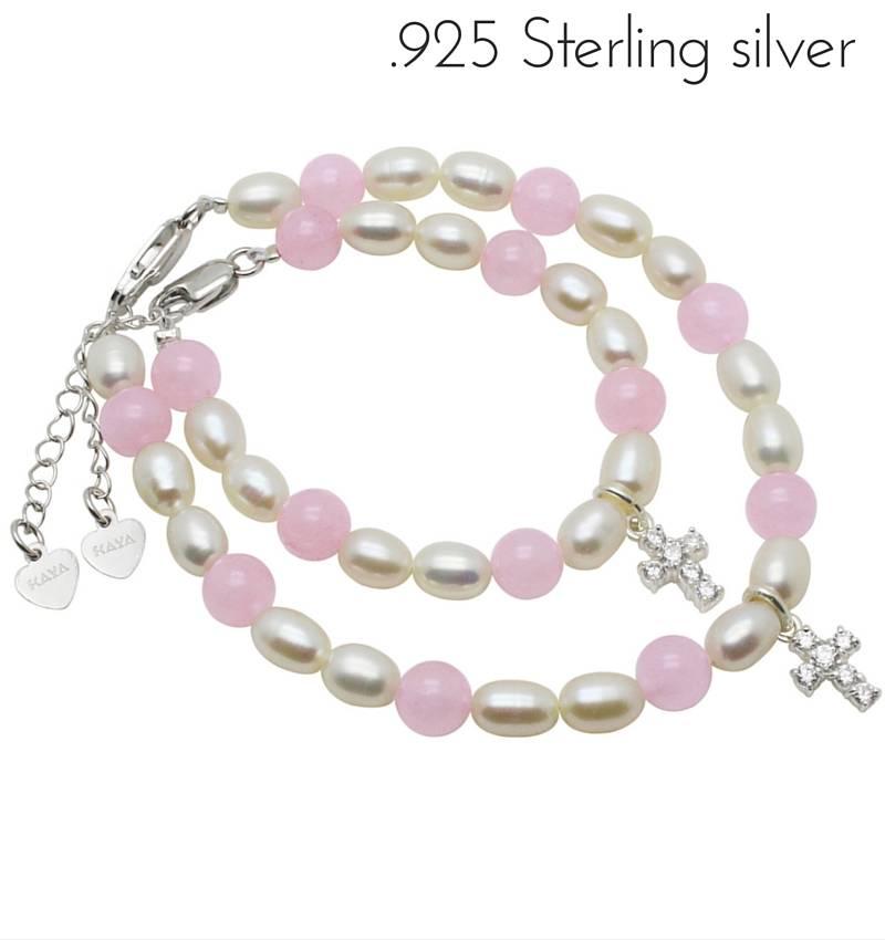 Precious (silver) Silver Mum & Me Bracelets 'Precious' Crystal Cross