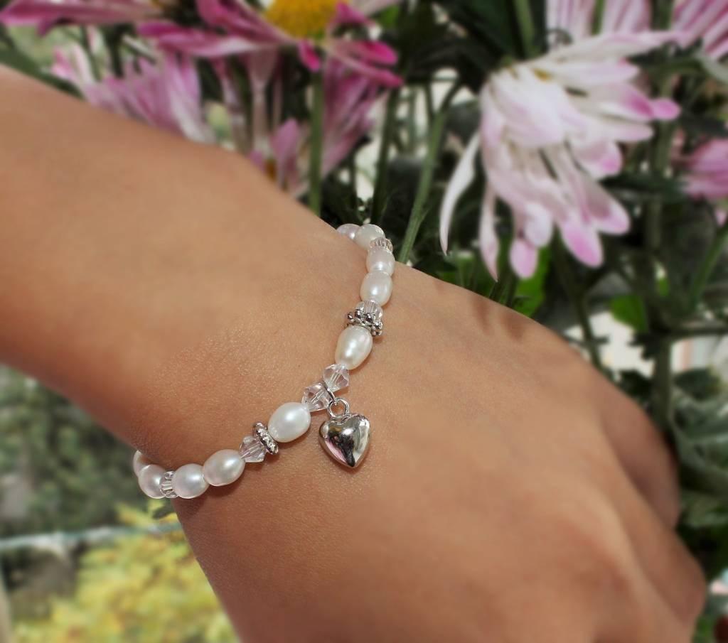 Precious (silver) Silver Mum & Me Bracelets 'Sparkles' Cross & Heart