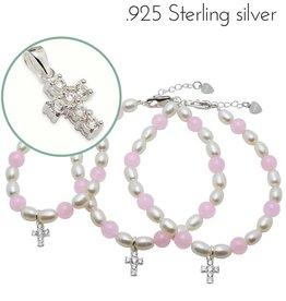 Precious (silver) 3 Generations Bracelets 'Precious' with Crystal Cross