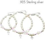 Little Star (silver) 3 Generations Silver Bracelets 'Little Star' with Cross