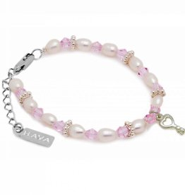 Infinity Girls Bracelet 'Infinity Pink' with Key