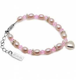 KAYA jewellery Girls Bracelet 'Princess' with a Puffed Heart Charm
