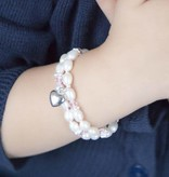 Infinity Luxury double Christening - Communion Bracelet 'Infinity Pink'
