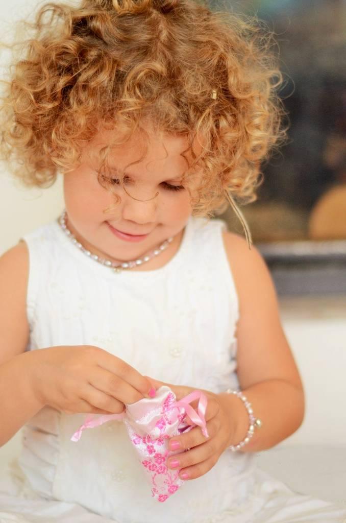 Infinity Luxury Girls Double Bracelet 'Infinity White' with Heart Charm