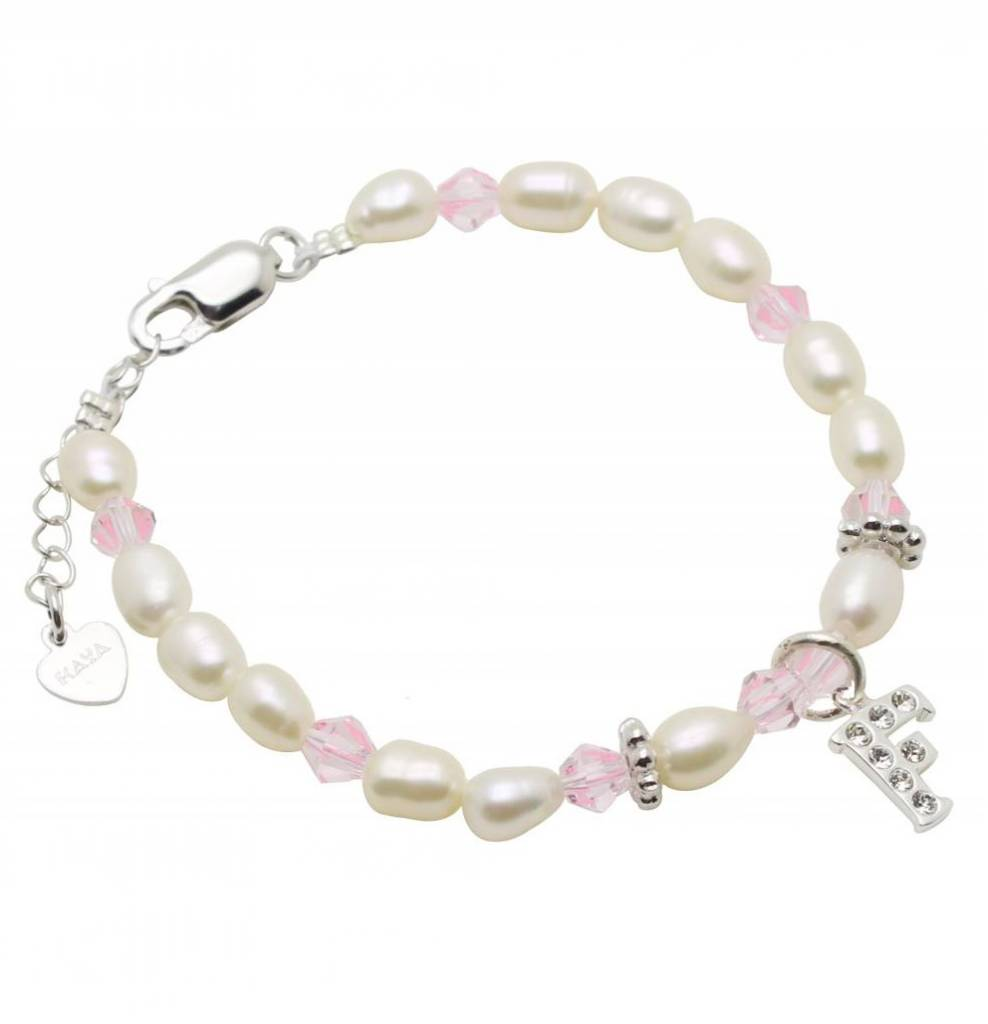 KAYA jewellery Silver women's Bracelet 'Little Diva' with Initial Charm