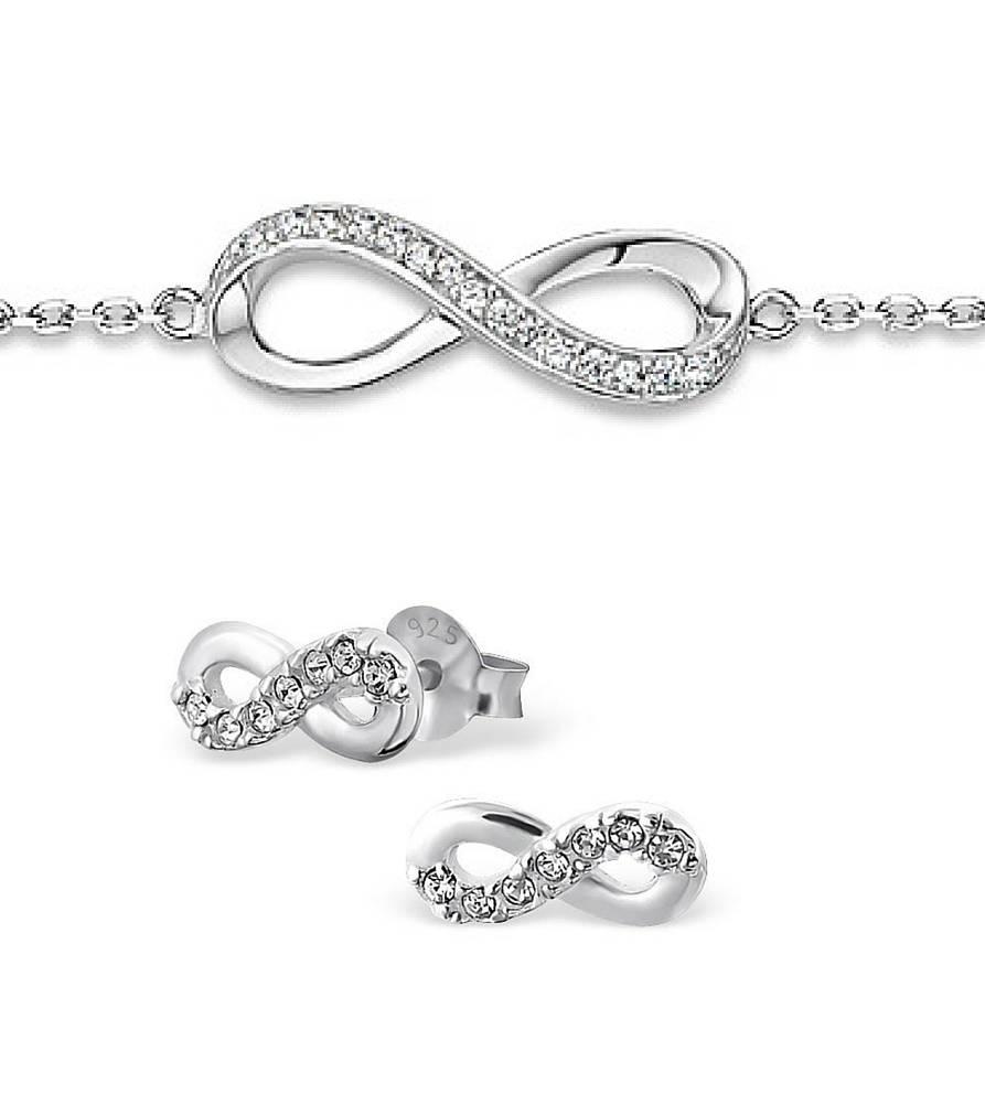 silver jewellery Silver Bracelet & Earings 'Infinity Forever'