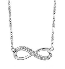 silver jewellery Silver Necklace 'Infinity Forever'