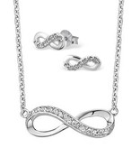 silver jewellery Silver Necklace & Earings 'Infinity Forever'