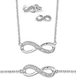silver jewellery Silver Necklace, Bracelet & Earings 'Infinity Forever'