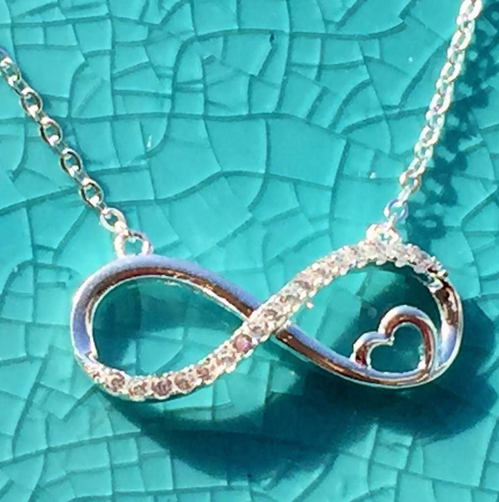 silver jewellery Silver Necklace 'Infinity Forever in my Heart