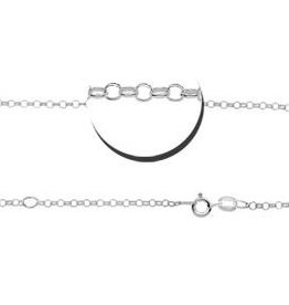 KAYA jewellery Names4ever Silver jasseron necklace (2 lengths)