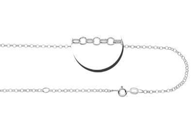 Engraved jewellery Silver jasseron necklace (2 lengths)