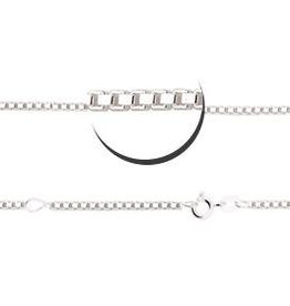 Engraved jewellery Silver venetian necklace (2 lengths)