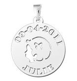 "Engraved jewellery Silver Baby pendant ""Girl"""