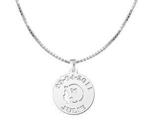 """KAYA jewellery Silver Baby pendant """"Girl"""""""