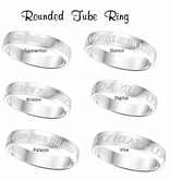 Engraved jewellery Silver Personalized Ring 4 mm