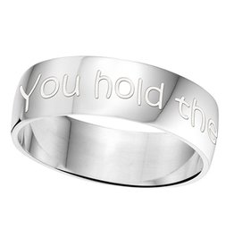 Engraved jewellery Names4ever Silver Personalized Ring 6 mm