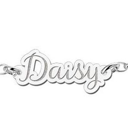 Engraved jewellery Names4ever Personalised Silver name bracelet