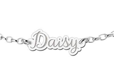 Engraved jewellery Personalised Silver name bracelet