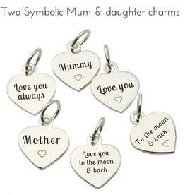 KAYA jewellery Accent Charms set for Mother and Daughter
