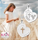 Engraved jewellery Silver pendant 1st Communion