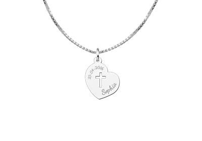 Engraved jewellery Engraved Silver Pendant Holy Communion