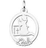 Engraved jewellery Engraved Silver Communion Gift Girl with Name