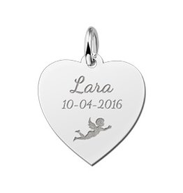 KAYA jewellery Heart Shaped Silver Communion Pendant