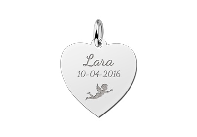 Engraved silver round pendant with six names kaya jewellery uk kaya jewellery heart shaped silver communion pendant mozeypictures Gallery