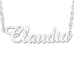Engraved jewellery Names4ever Silver Personalised Necklace 'Your name'