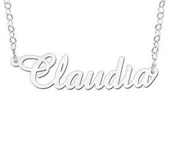 Engraved jewellery Silver Personalised Necklace 'Your name'