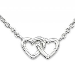 silver jewellery Silver Necklace 'Entwined Hearts'