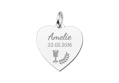 Engraved jewellery Heart Shaped Holy Communion Gift