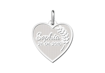 Engraved jewellery Engraved Heart Shaped Communion Gift