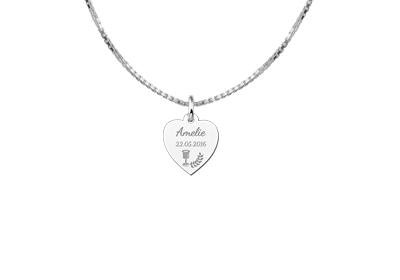 KAYA jewellery Sterling Communion Heart Pendant Gift