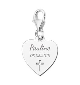 Engraved jewellery Names4ever Engraved Communion Pendant Charm