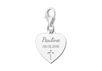 KAYA jewellery Engraved Communion Pendant Charm