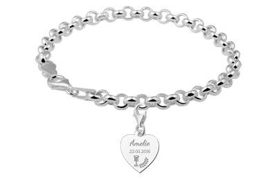 KAYA jewellery 925 Silvers Communion Heart Charm