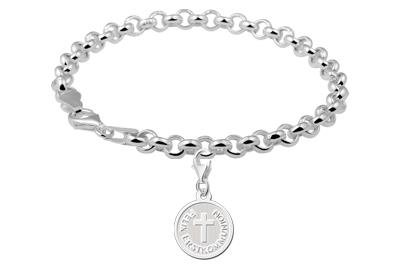 Engraved jewellery Sterling Cross 1st Communion Charm