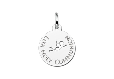 Engraved jewellery Angel Engraved Communion Pendant