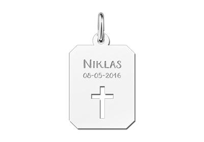 KAYA jewellery Silver Cross Communion Pendant Piece